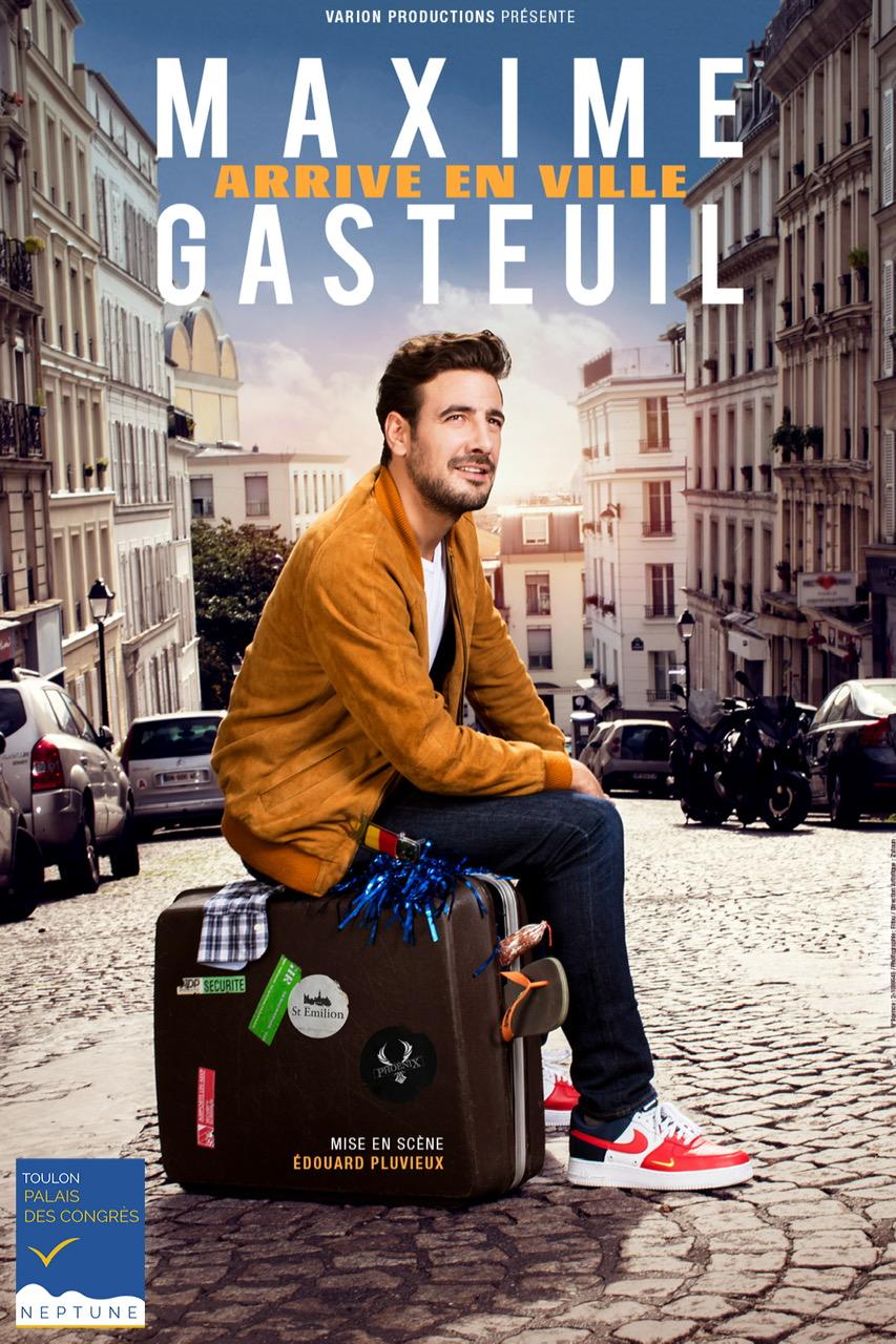 Maxime Gasteuil Arrive en ville-Spectacle reporté au jeudi 3 février 2022